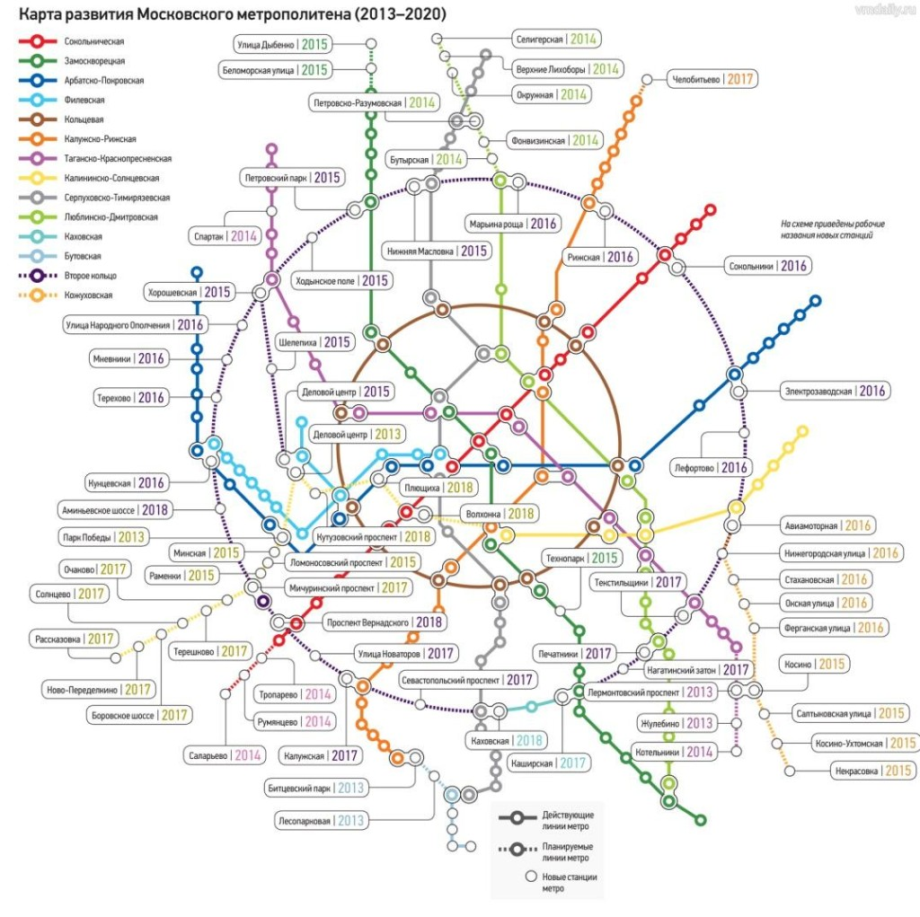 Карта московского метрополитена