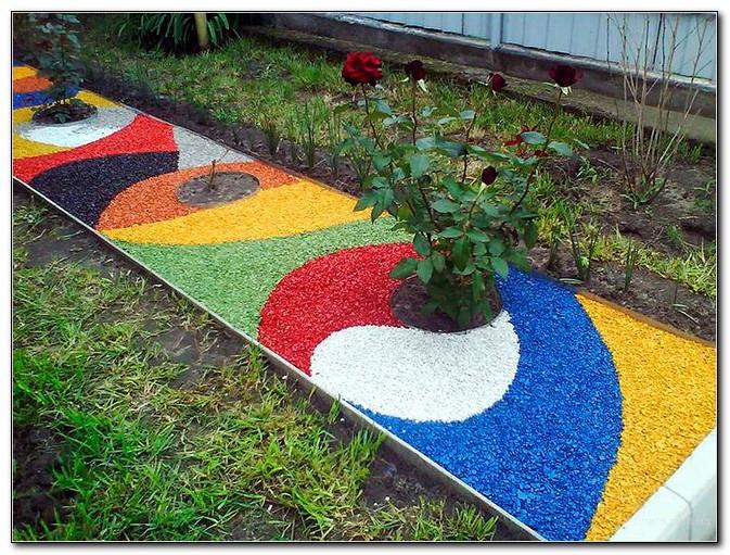 цветные дорожки из щебенки