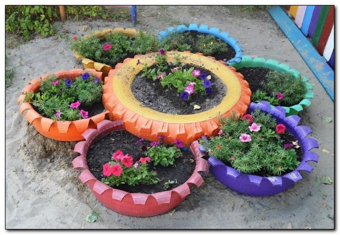 клумбы для садовых цветов