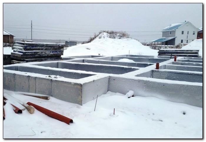 можно ли строить фундамент зимой