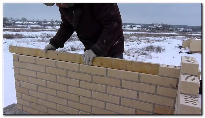 Зимняя кладка стен из кирпича