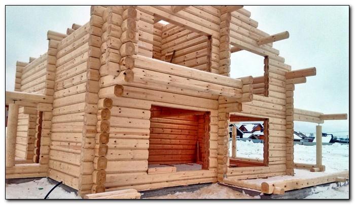 Зимняя кладка стен из деревянного бруса