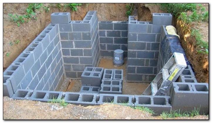 фундамент для гаража из шлакоблока